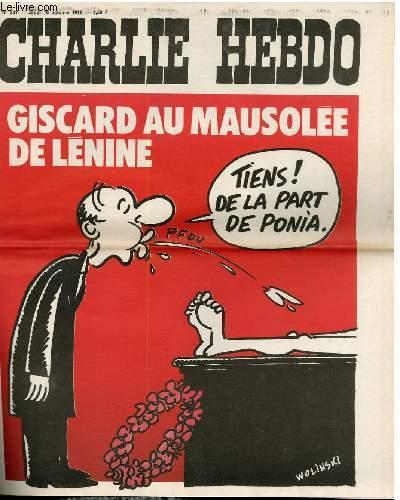 CHARLIE HEBDO N°257 - GISCARD AU MAUSOLEE DE LENINE