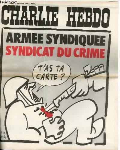 CHARLIE HEBDO N°261 ARMEE SYNDIQUEE SYNDICAT DU CRIME