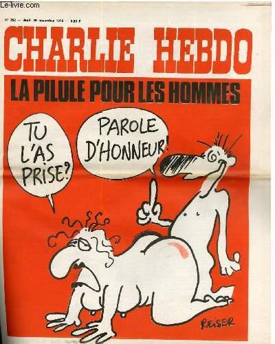 CHARLIE HEBDO N°262 - LA PILILE POUR LES HOMMES
