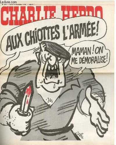 CHARLIE HEBDO N°264 - AU CHIOTTES L'ARMEE ! MAMAN ! ON ME DEMORALISE !