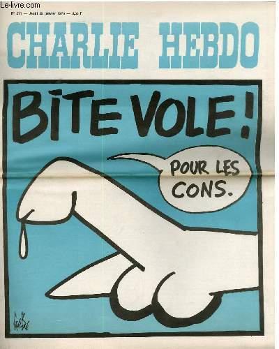 CHARLIE HEBDO N°271 - BITE VOLE