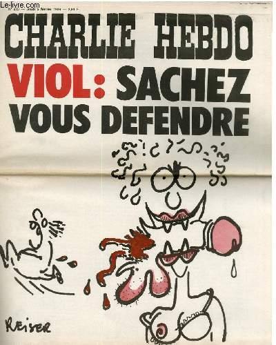 CHARLIE HEBDO N°273 - VIOL : SACHEZ VOUS DEFENDRE