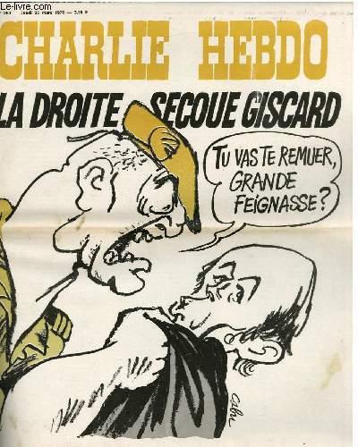 CHARLIE HEBDO N°280 - LA DROITE SECOUE GISCARD