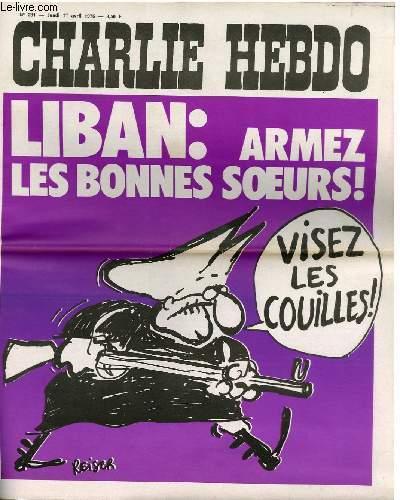CHARLIE HEBDO N°281 - LIBAN : ARMEZ LES BONNES SOEURS ! VISEZ LES COUILLES