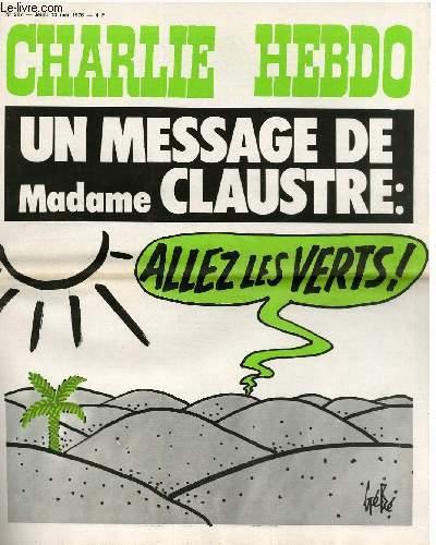 CHARLIE HEBDO N°287 - UN MESSAGE DE MADAME CLAUSTRE