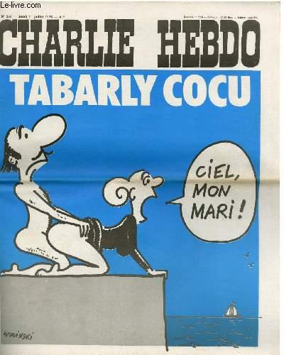 CHARLIE HEBDO N�294 - TABARKY COCU