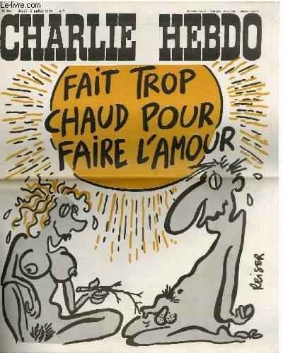 CHARLIE HEBDO N°295 - FAIT TROP CHAUD POUR FAIRE L'AMOUR