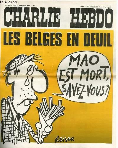 CHARLIE HEBDO N°305 - LES BELGES EN DEUIL