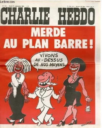 CHARLIE HEBDO N°306 - MERDE AU PLAN BARRE !