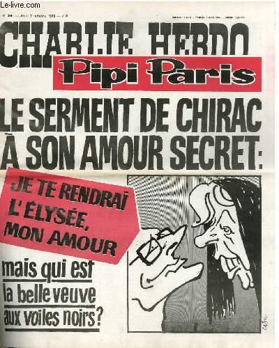CHARLIE HEBDO N°308 - PIPI PARIS, LE SERMENT DE CHIRAC A SON AMOUR SECRET