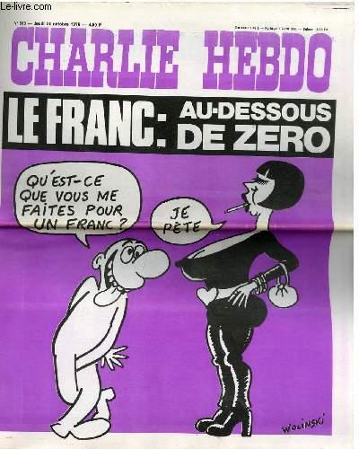 CHARLIE HEBDO N°310 - LE FRANC : AU DESSOUS DE ZERO