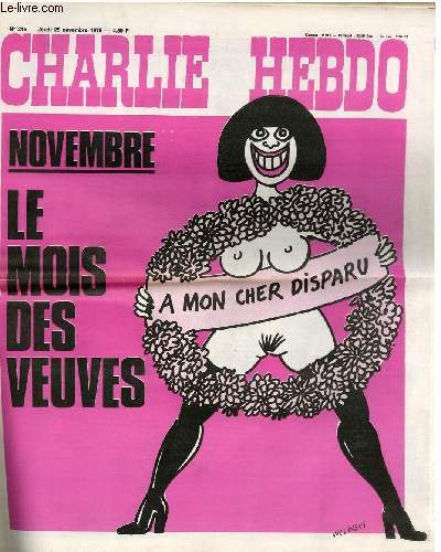 CHARLIE HEBDO N°315 - NOVEMBRE LE MOIS DES VEUVES