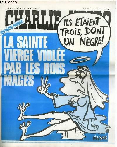 CHARLIE HEBDO N°318 - DERNIERE MINUTE, LA SAINTE VIERGE VIOLEE PAR LES ROIS MAGES