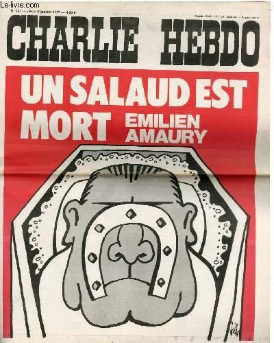 CHARLIE HEBDO N°321 - UN SALAUD EST MORT, EMILIEN AMAURY