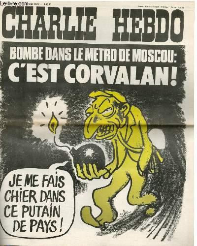 CHARLIE HEBDO N°322 - BOMBE DANS LE METRO DE MOSCOU : C'EST CORVALAN !