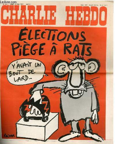 CHARLIE HEBDO N°330 - ELECTIONS PIEGE A RATS