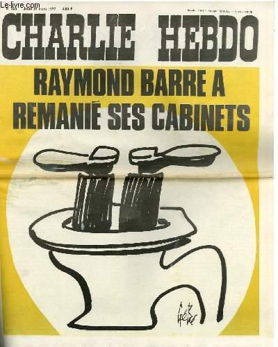 CHARLIE HEBDO N°333 - RAYMOND BARRE A REMANIE SES CABINETS