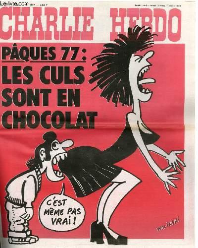 CHARLIE HEBDO N°334 - PAQUES 77 : LES CULS SONT EN CHOCOLAT