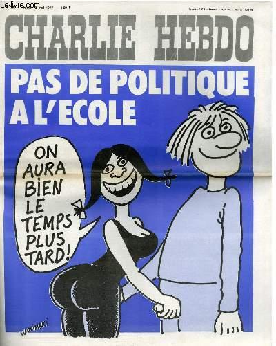 CHARLIE HEBDO N°339 - PAS DE POLITIQUE A L'ECOLE