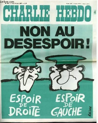 CHARLIE HEBDO N°343 - NON AU DESESPOIR