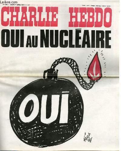 CHARLIE HEBDO N�349 - OUI AU NUCLEAIRE