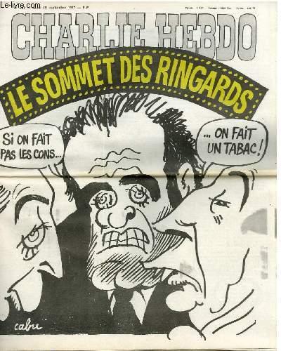 CHARLIE HEBDO N°357 - LE SOMMET DES RINGARDS