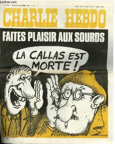 CHARLIE HEBDO N°358 - FAITES PL°AISIR AUX SOURDS