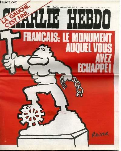 CHARLIE HEBDO N°359 - FRANCAIS : LE MONUMENT AUQUEL VOUS AVEZ ECHAPPE !