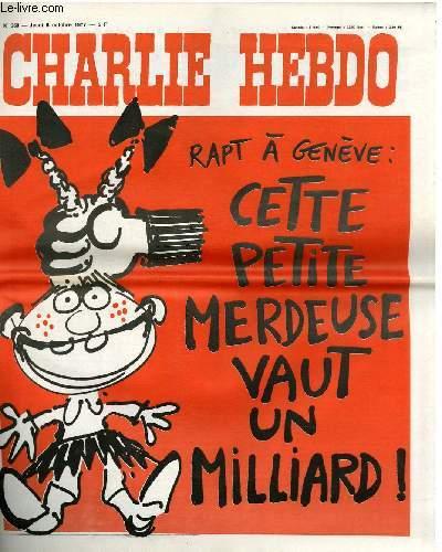 CHARLIE HEBDO N°360 - RAPT A GENEVE : CETTE PETITE MERDEUSE VAUT UN MILLIARD