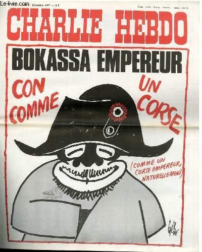 CHARLIE HEBDO N°368 - BOKASSA EMPEREUR, CON COMME UN CORSE