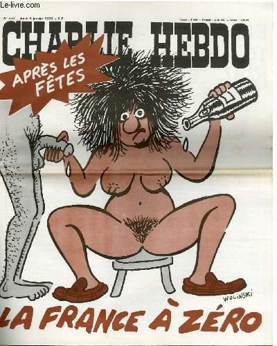 CHARLIE HEBDO N°373 - APRES LES FETES, LA FRANCE A ZERO