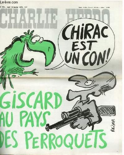 CHARLIE HEBDO N°374 - GISCARD AU PAYS DES PERROQUET