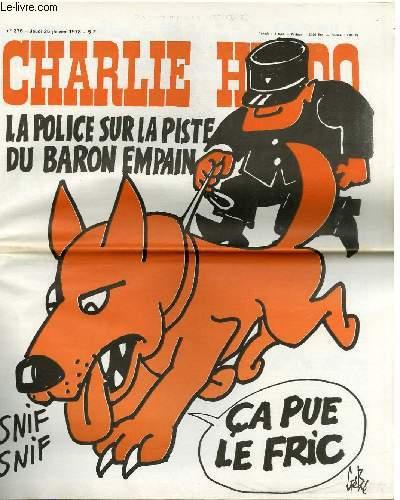 CHARLIE HEBDO N°376 - LA POLICE SUR LA PISTE DU BARON EMPAIN