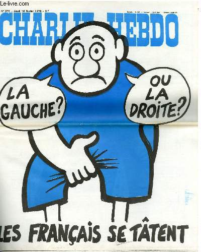 CHARLIE HEBDO N°379 - LA GAUCHE ? OU LA DROITE ? LES FRANCAIS SE TÂTENT