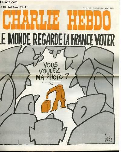 CHARLIE HEBDO N°LE MONDE REGARDE LA FRANCE VOTER