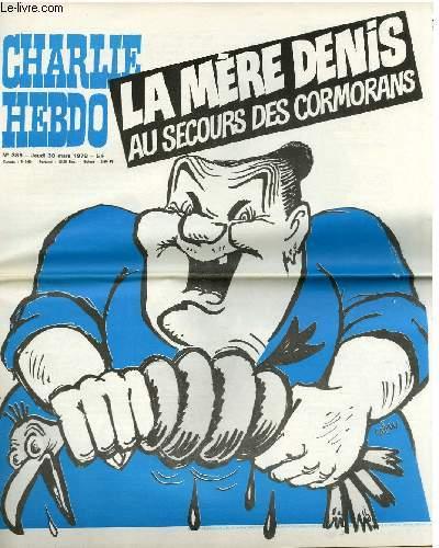 CHARLIE HEBDO N°385 - LA MERE DENIS AU SECOURS DES CORMORANS