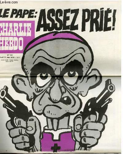 CHARLIE HEBDO N°391 - LE PAPE : ASSEZ PRIE !