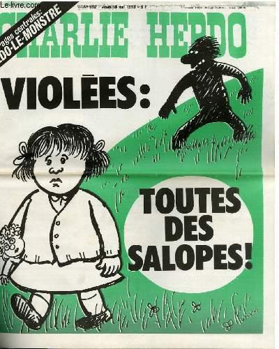 CHARLIE HEBDO N°392 - VIOLEES : TOUTES DES SALOPES