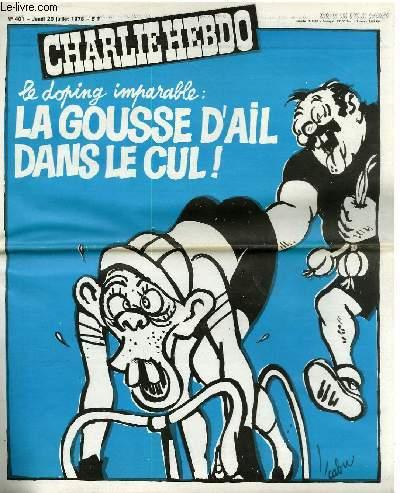 CHARLIE HEBDO N°401 - LE DOPING IMPARABLE : LA GOUSSE D'AIL DANS LE CUL