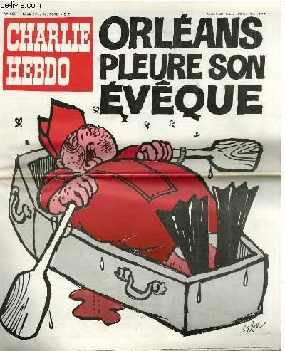 CHARLIE HEBDO N°402 - ORLEANS PLEURE SON EVEQUE
