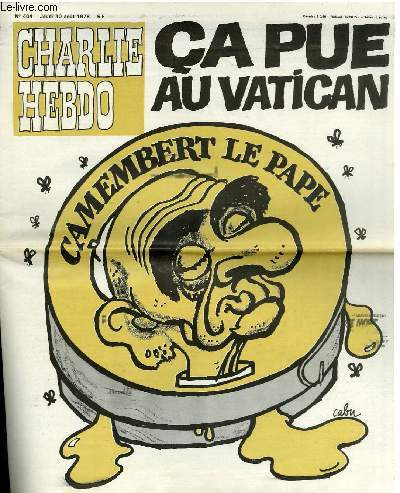 CHARLIE HEBDO N�404 - CA PUE AU VATICAN