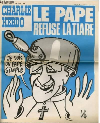 CHARLIE HEBDO N°407 - LE PAPE REFUSE LATIARE