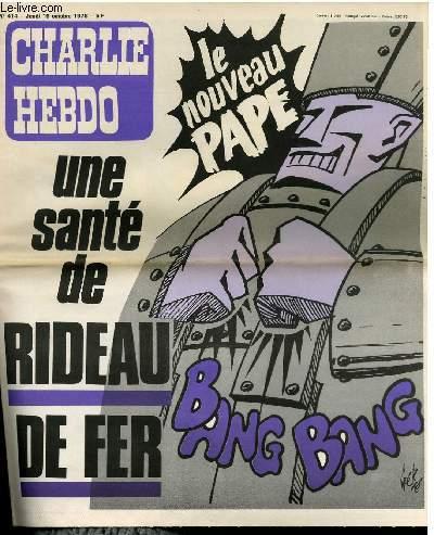 CHARLIE HEBDO N°414 - UNE SANTE DE RIDEAU DE FER LE NOUVEAU PAPE
