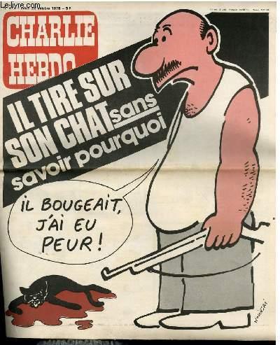 CHARLIE HEBDO N°415 - IL TIRE SUR SON CHAT SANS SAVOIR POURQUOI