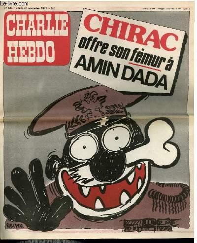 CHARLIE HEBDO N°420 - CHIRAC OFFRE SON FEMUR A AMIN DADA