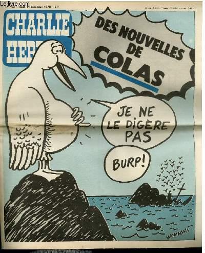 CHARLIE HEBDO N°422 - DES NOUVELLES DE COLAS