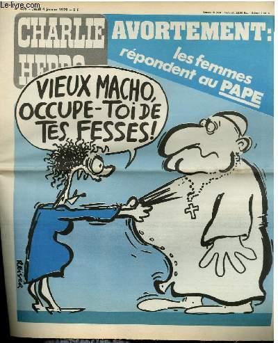 CHARLIE HEBDO N°425 - AVORTEMENT : LES FEMMES REPONDENT AU PAPE
