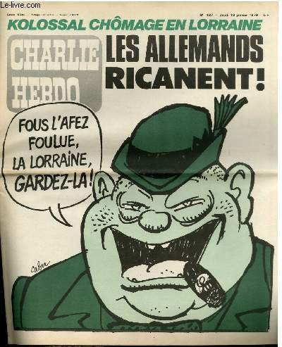 CHARLIE HEBDO N°427 - LES ALLEMANDS RICANENT !