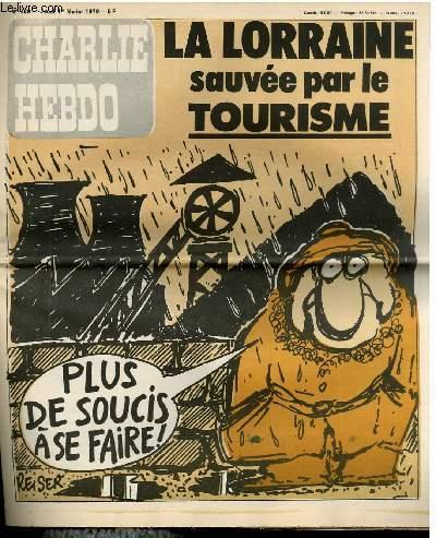CHARLIE HEBDO N°429 - LA LORRAINE SAUVEE PAR LE TOURISME