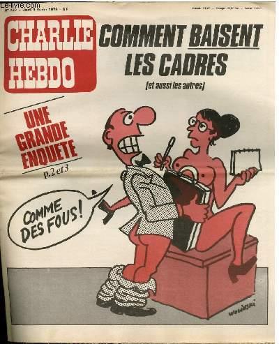 CHARLIE HEBDO N°430 - COMMENT BAISENT LES CADRES (ET AUSSI LES AUTRES) UNE GRANDE ENQUÊTE !